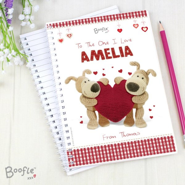 Boofle Shared Heart A5 Notebook