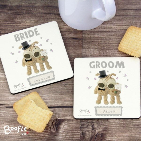Boofle Wedding Coaster Set