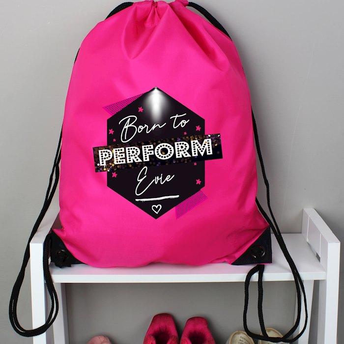 'Born to Perform' Pink Kit Bag