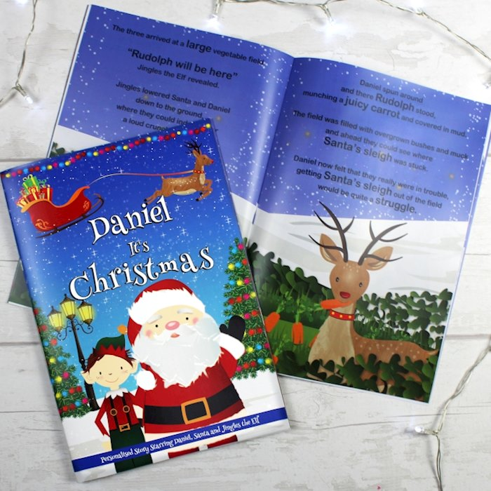 "Boys ""It's Christmas"" Story Book, Featuring Santa and his Elf Jingles"