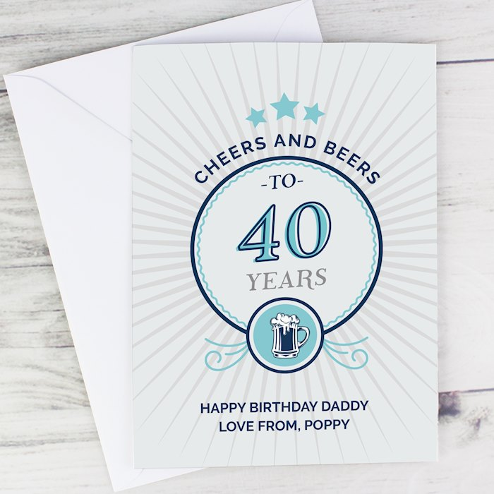 """Cheers and Beers"" Birthday Card"