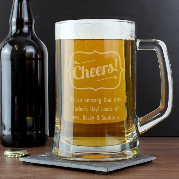 Cheers Glass Pint Stern Tankard