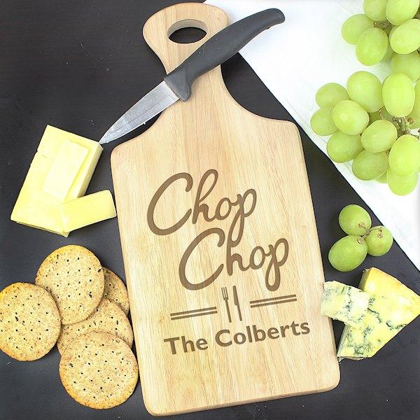 'Chop Chop' Large Paddle Chopping Board