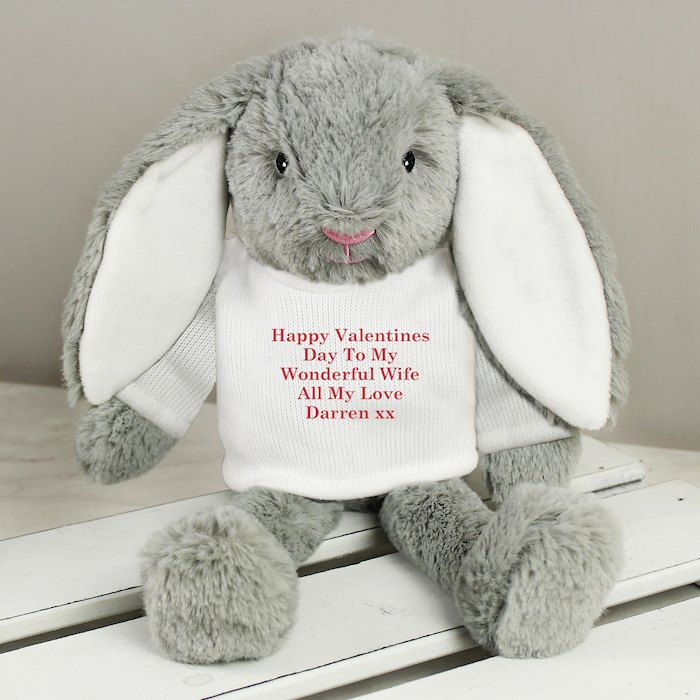 Christmas Bunny Soft Toy