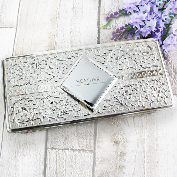 Classic Antique Silver Plated Jewellery Box