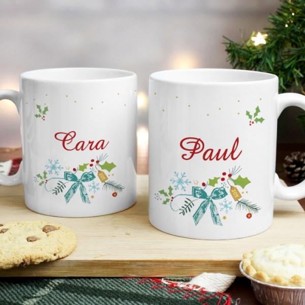 Classic Christmas Mug Set