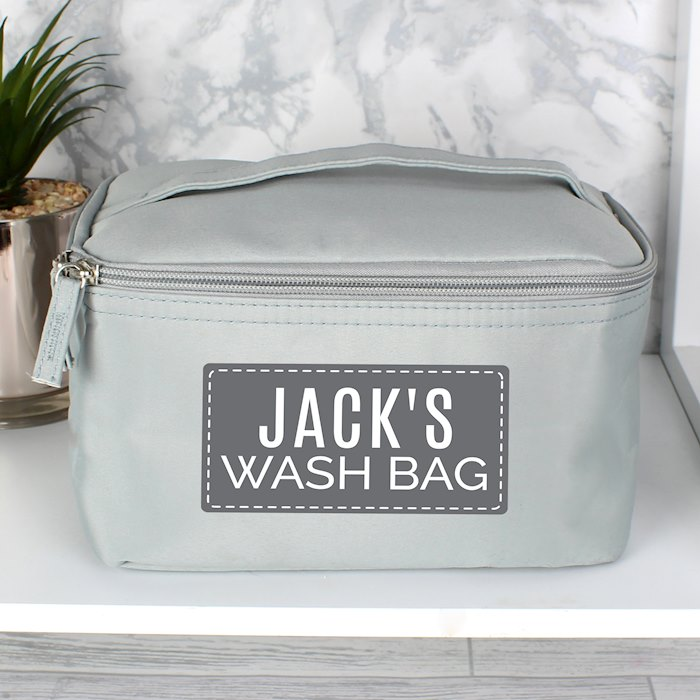 Classic Grey Make Up Wash Bag