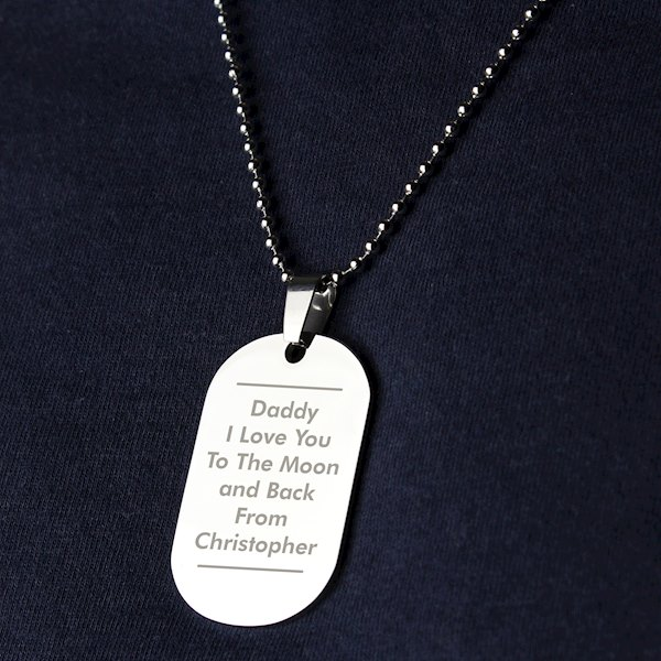 Classic Stainless Steel Dog Tag Necklace