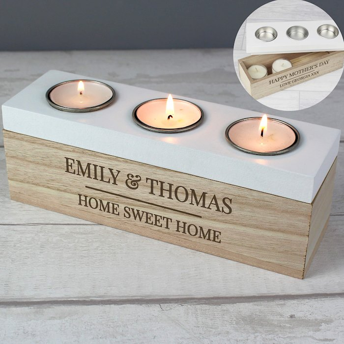 Classic Triple Tea Light Box