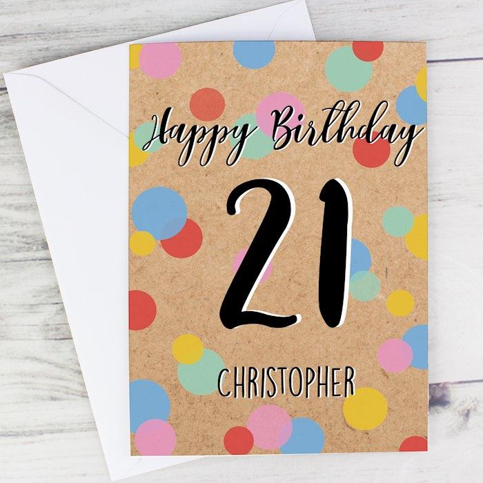 Colour Confetti Birthday Card