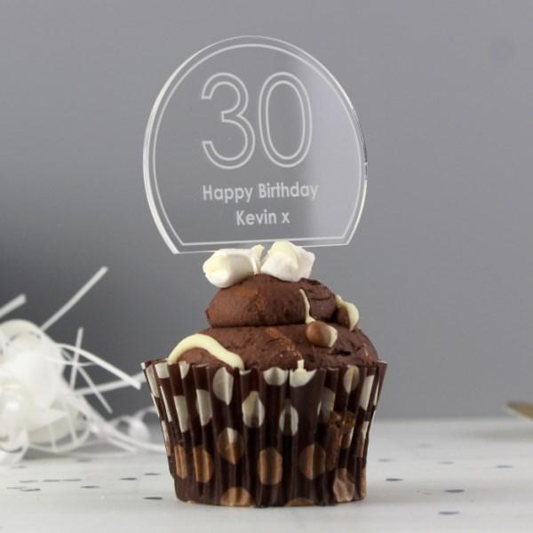 Contemporary Age Cake Topper