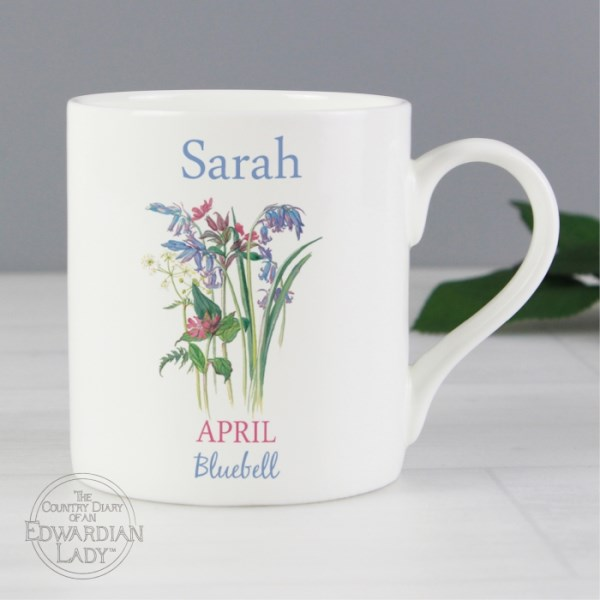 Country Diary 'April Flower Of The Month' Balmoral Mug
