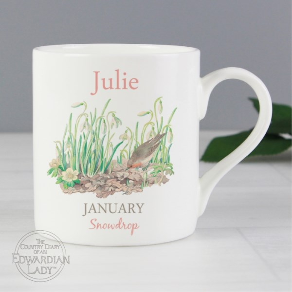 Country Diary 'January Flower Of The Month' Balmoral Mug