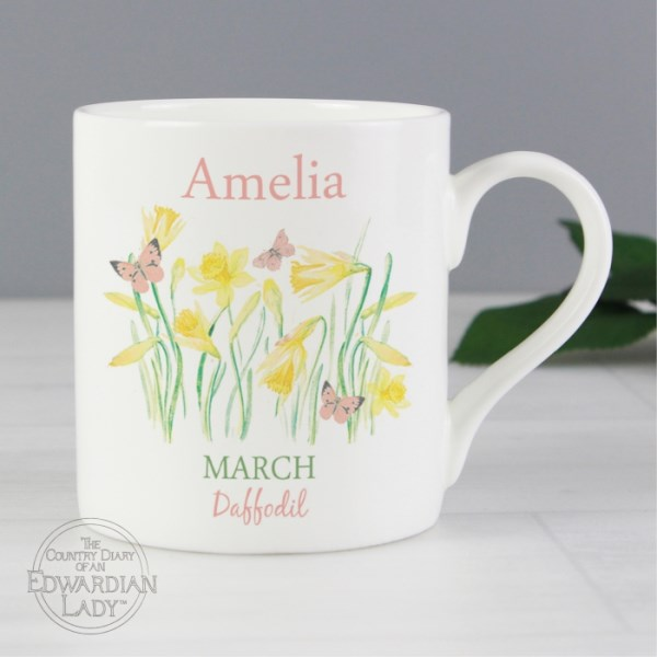 Country Diary 'March Flower Of The Month' Balmoral Mug