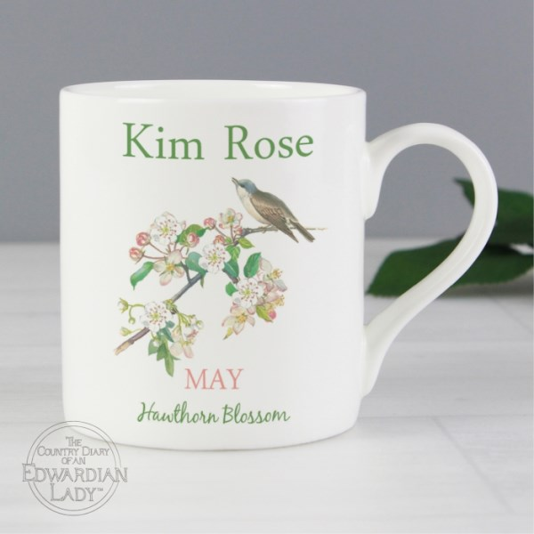 Country Diary 'May Flower Of The Month' Balmoral Mug