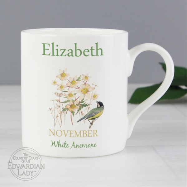 Country Diary 'November Flower Of The Month' Balmoral Mug