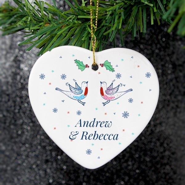 Couple's Christmas Heart Decoration