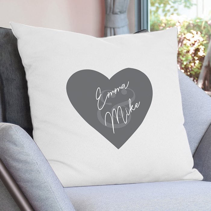 Couples Heart Cushion Cover