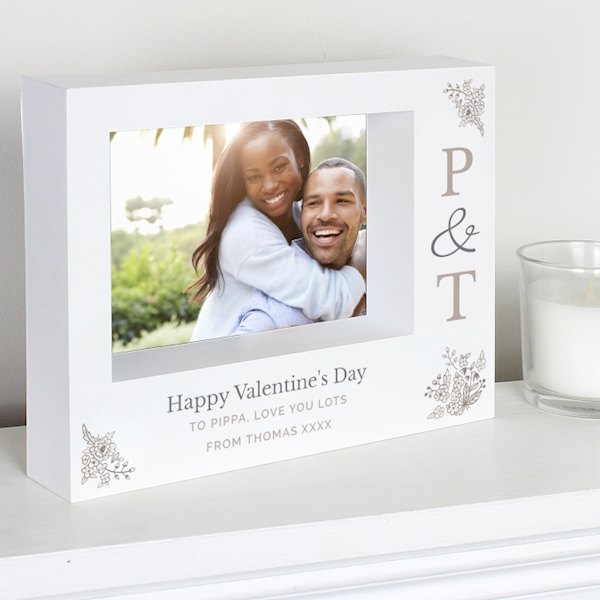 Couples Initials 7x5 Box Photo Frame