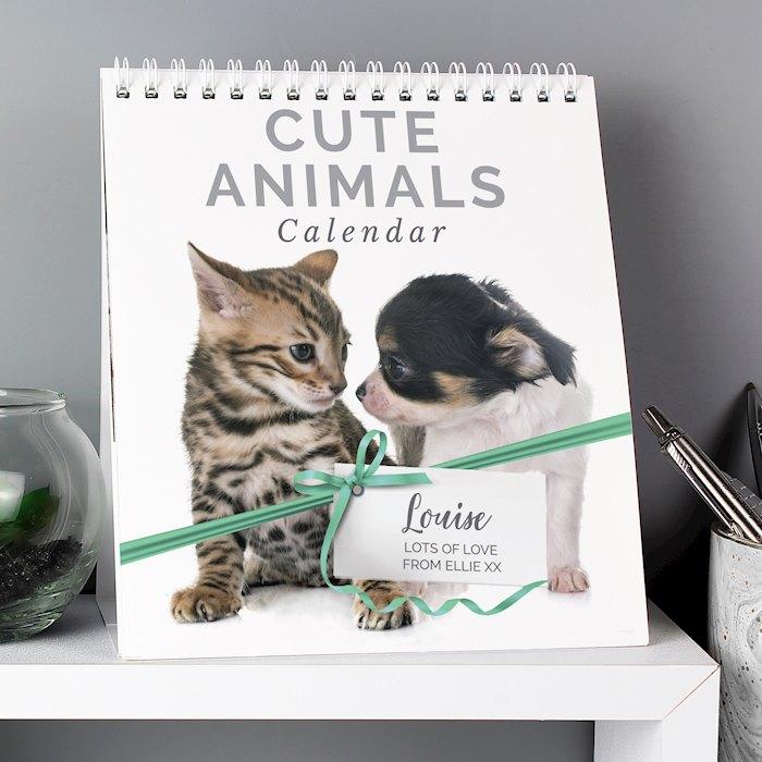 Cute Animals Desk Calendar