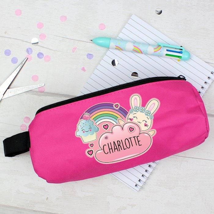 Cute Bunny Pink Pencil Case