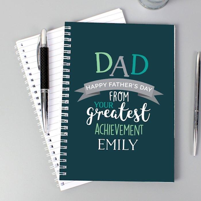 Dad's Greatest Achievement A5 Notebook