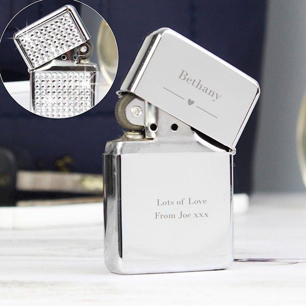 Decorative Heart Diamante Lighter