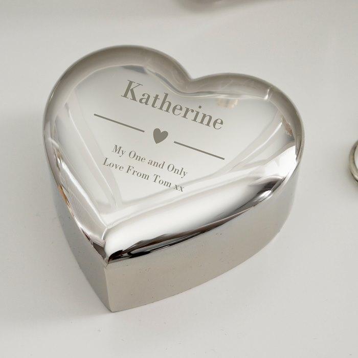 Decorative Heart Trinket Box