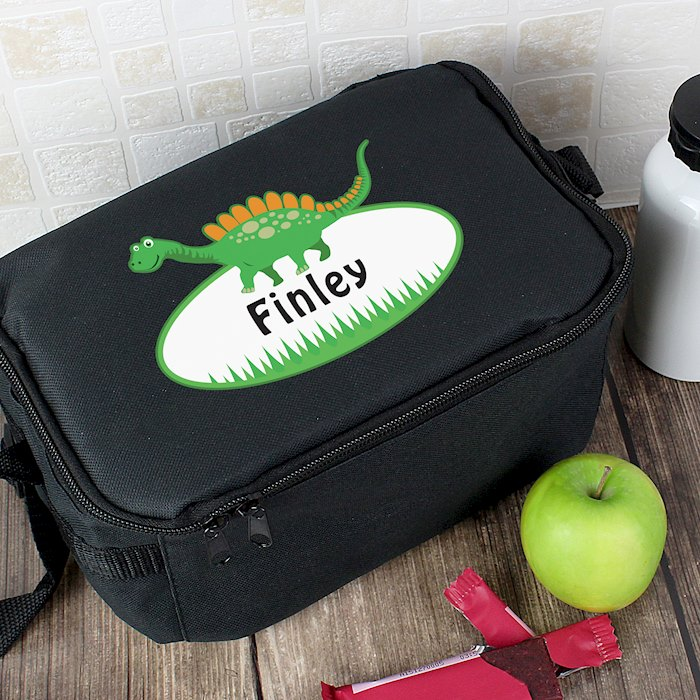 Dinosaur Black Lunch Bag