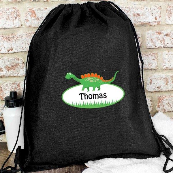 Dinosaur Black Swim & Kit Bag