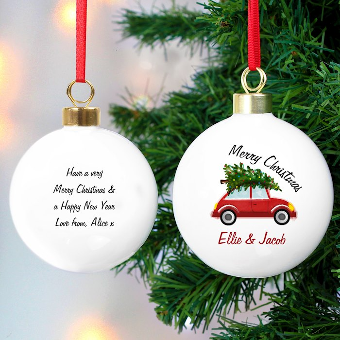 'Driving Home For Christmas' Bauble