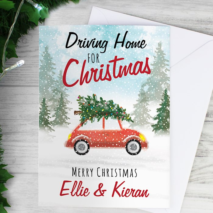 'Driving Home For Christmas'' Card