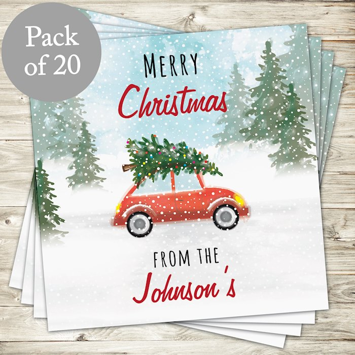 'Driving Home For Christmas'' Pack of 20 Cards