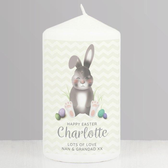 Easter Bunny Pillar Candle