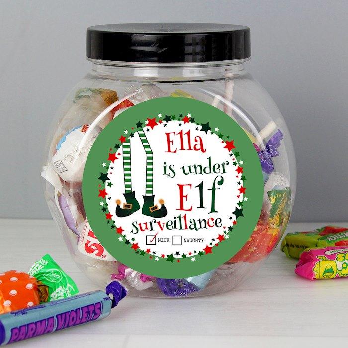 Elf Surveillance Sweet Jar