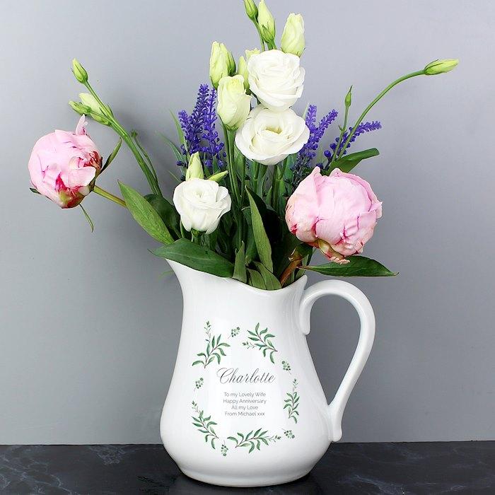 Eucalyptus Ceramic Flower Jug