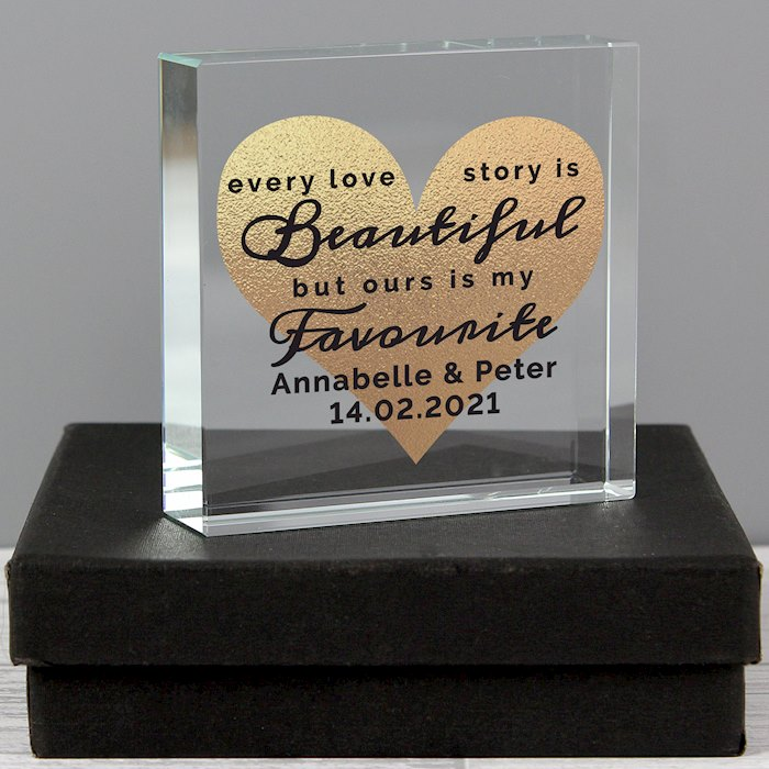 Every Love Story Is Beautiful Large Crystal Token