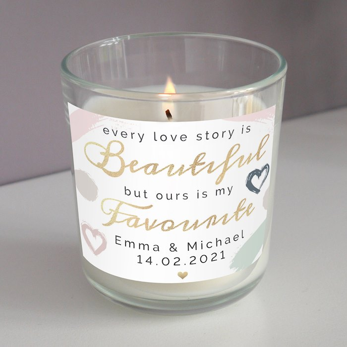 Every Love Story Is Beautiful Scented Jar Candle