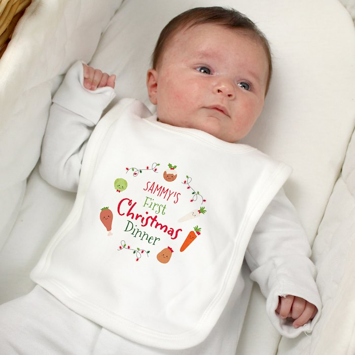 'First Christmas Dinner' Bib