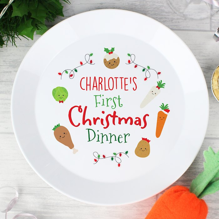 'First Christmas Dinner' Plastic Plate