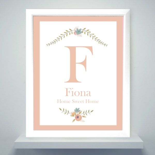 Floral Bouquet White Framed Poster Print