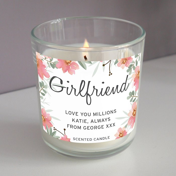 Floral Sentimental Scented Jar Candle