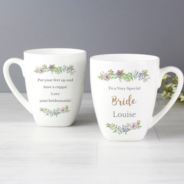 Floral  Watercolour Latte Mug