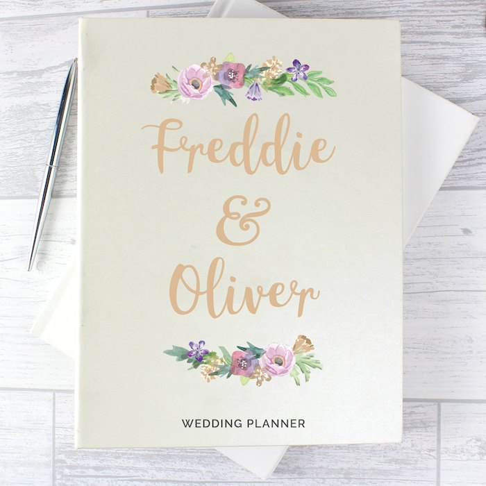 Floral Watercolour Wedding Planner