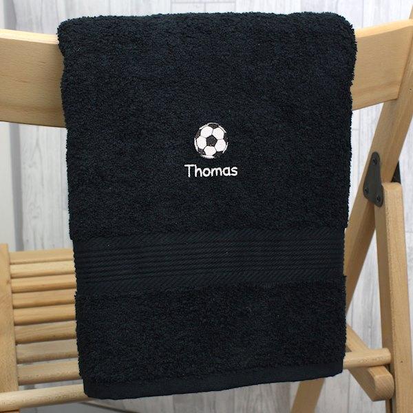 Football Black Hand Towel