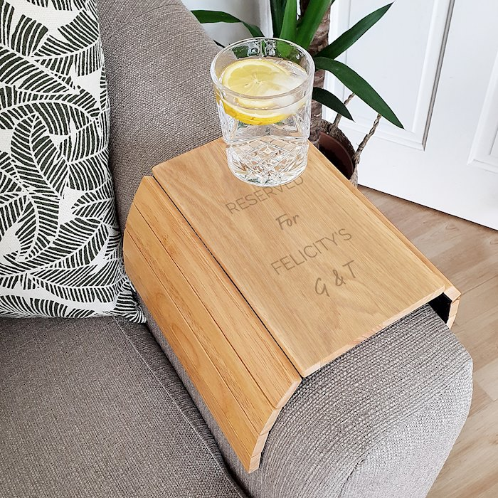 Free Text Wooden Sofa Tray