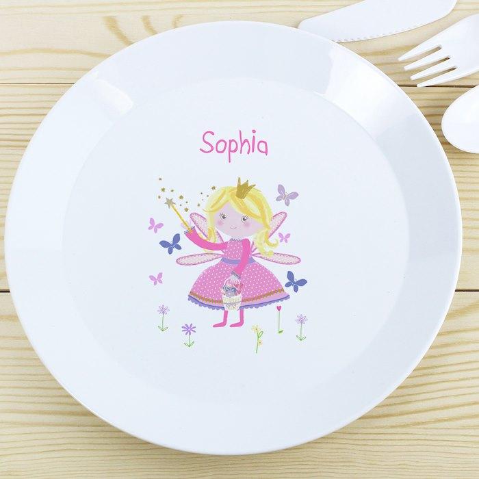 Garden Fairy Plastic Plate