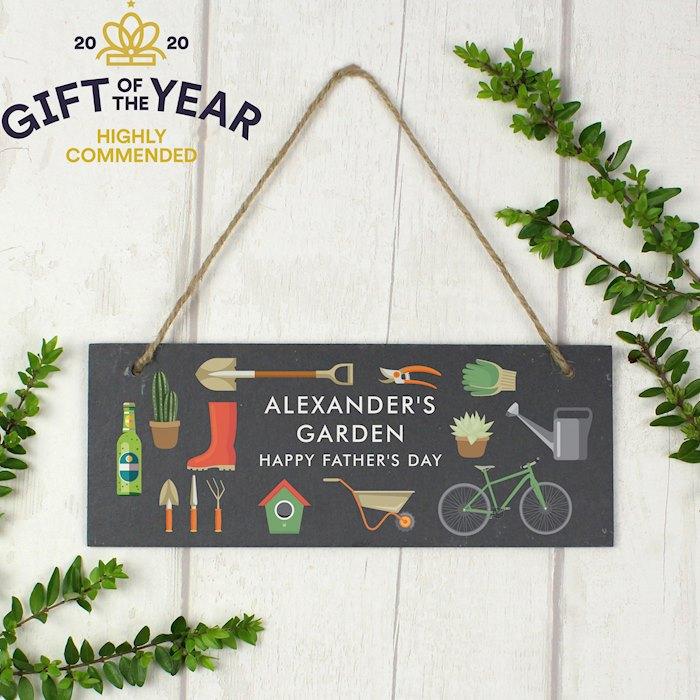 Garden Printed Hanging Slate Plaque