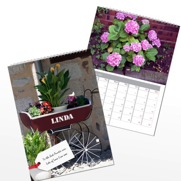 Personalised Gardeners A4 Wall Calendar