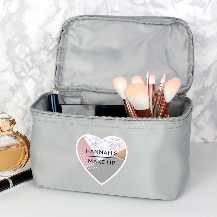 Geometric Grey Make Up Wash Bag